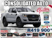 Used Ford Ranger 2.2 double cab Hi-Rider XL Auto Gauteng