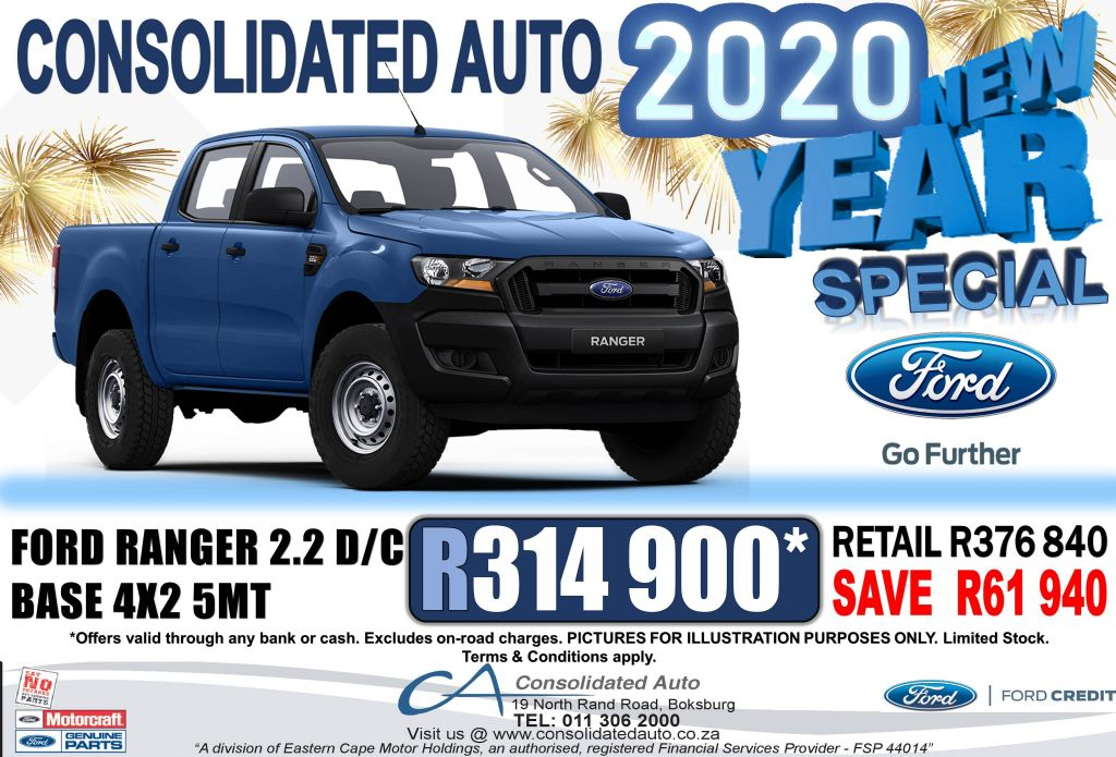 2020 ford ranger 2.2tdci double cab base 5 speed