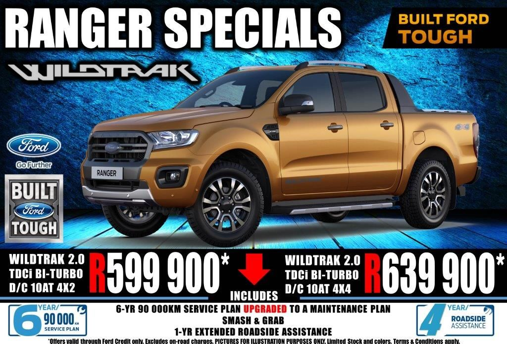 2020 ford ranger 2.0 bit dc wildtrak 10 speed a t 4x2