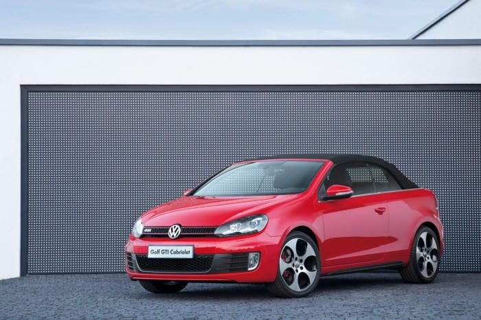 Volkswagen Golf 6 GTI Cabriolet roof up - Surf4cars