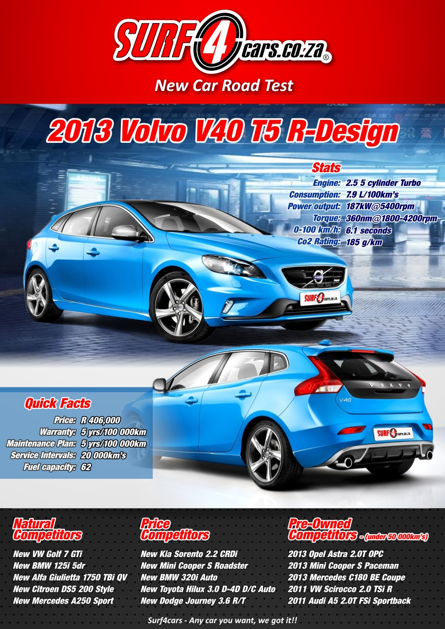 Volvo V40 T5 R-Design (2013): Infographic – Surf4cars