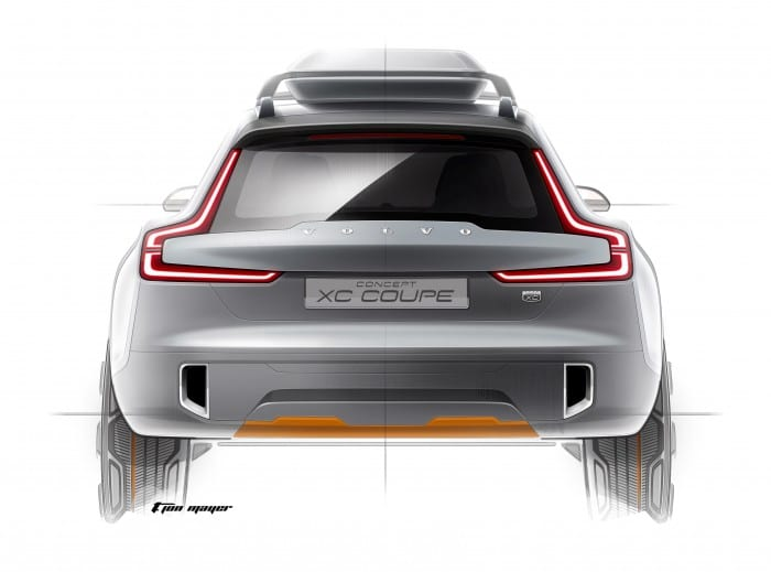 Volvo XC Coupe Rear - Surf4cars
