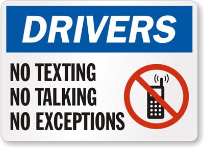 Texting and Talking On Your Cellphone While Driving