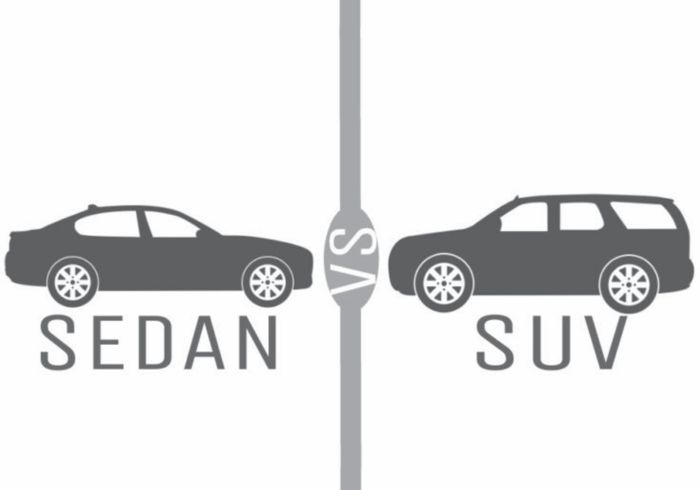 Choosing between an SUV or sedan