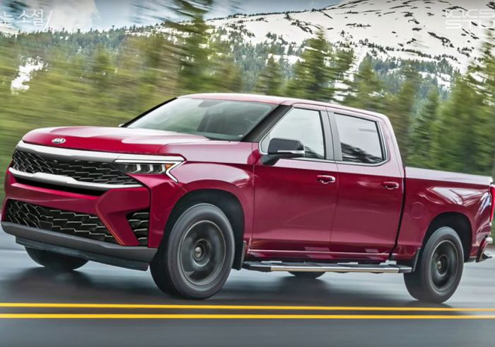Sneak peek at Kia's Rumoured Bakkie