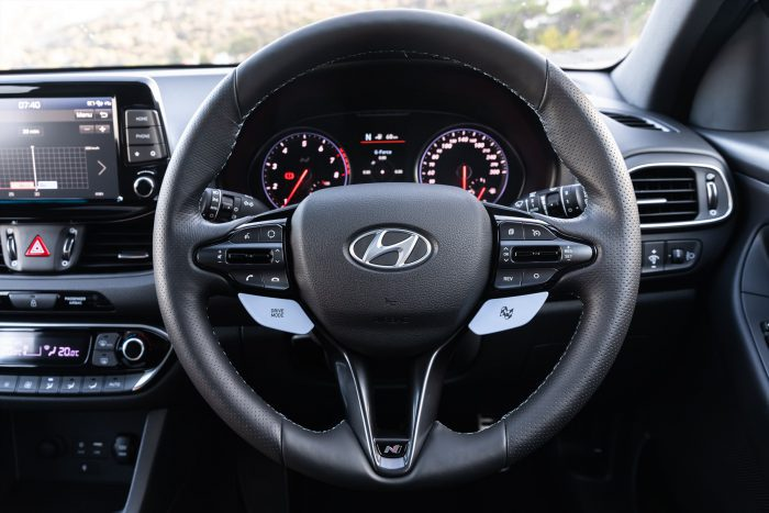 Hyundai i30N Steering Wheel View